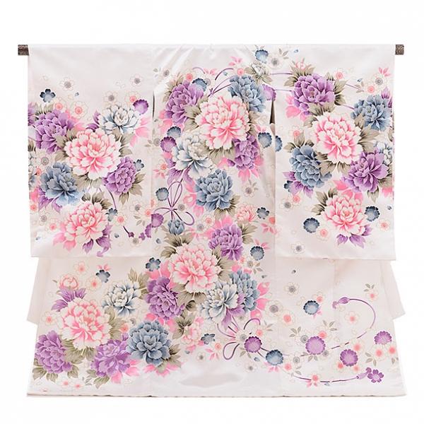 女児産着(お宮参り)1134白 花