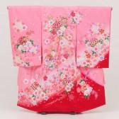 女児産着レンタル(お宮参り)1030ピンクまり桜