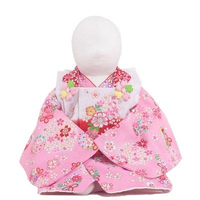 ベビー着物(女)321 ピンク/小花と華
