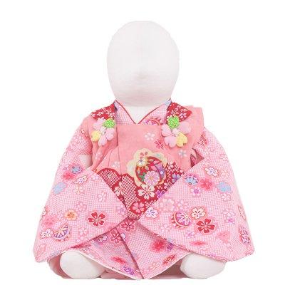 ベビー着物(女)306 ピンク/花毬