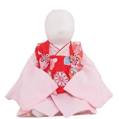 ベビー着物(女)362  赤/ピンク