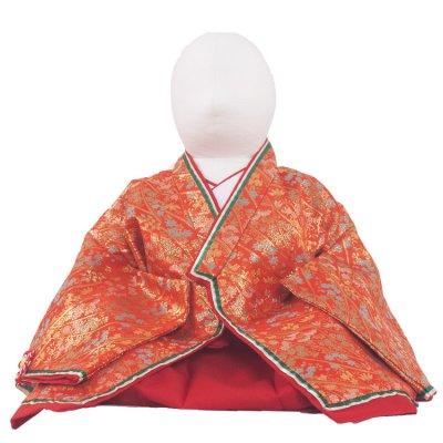 ベビー着物(女)227 赤地/お姫様十二単衣