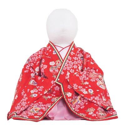 ベビー着物(女)301 赤地/お姫様十二単衣