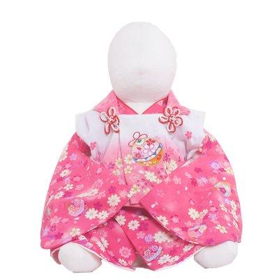 ベビー着物(女)309 チェリ-ピンク/花毬