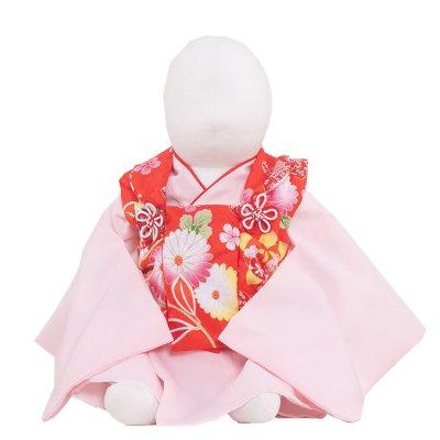 ベビー着物(女)361  赤/ピンク