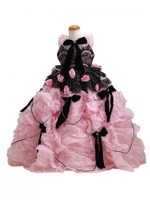 子供ドレス 3~4才 ピンク ノースリーブ 7429