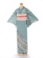 絽 緑 モダン華紋 kt5061