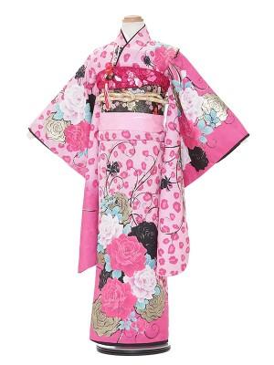 七五三レンタル(7歳女の子結び帯)A759 BLUE CROSS ピンク