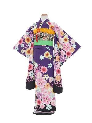 七五三レンタル(7歳女の子結び帯)A801 遊助 U-SUKe KIDS 紫地