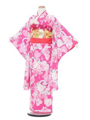 七五三レンタル(7歳女の子結び帯)A763 SEIKO MATSUDA ピンク