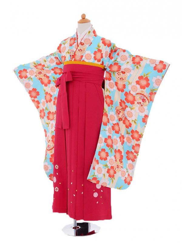小学生卒業式袴(女の子)レンタルjh0916紫