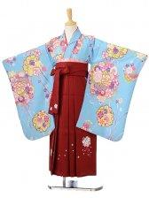 ジュニア(女の子袴)レンタル0788水色花