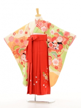 ジュニア着物(女の子袴)0749あしだまな古典×