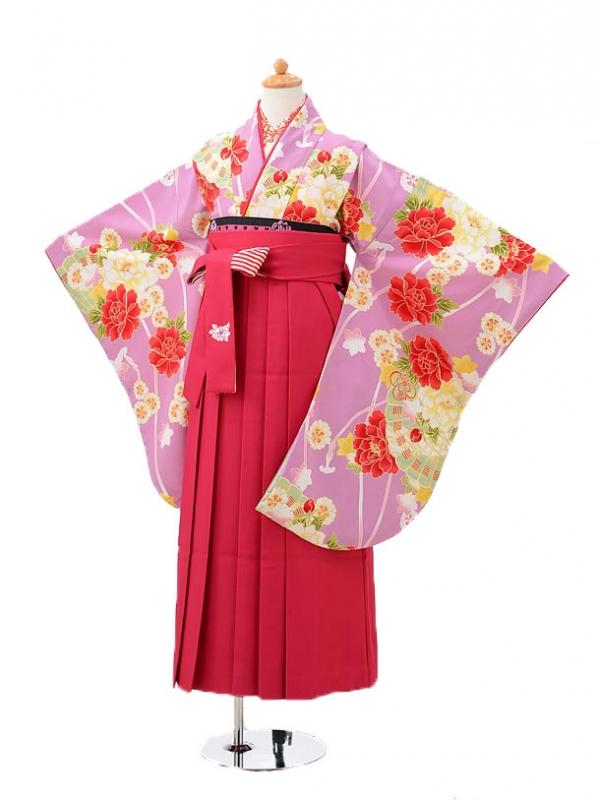 小学生卒業式袴(女の子)レンタルjh0935紫