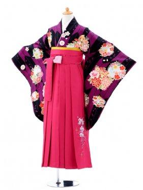 小学生卒業式袴(女の子)レンタルjh0911紫