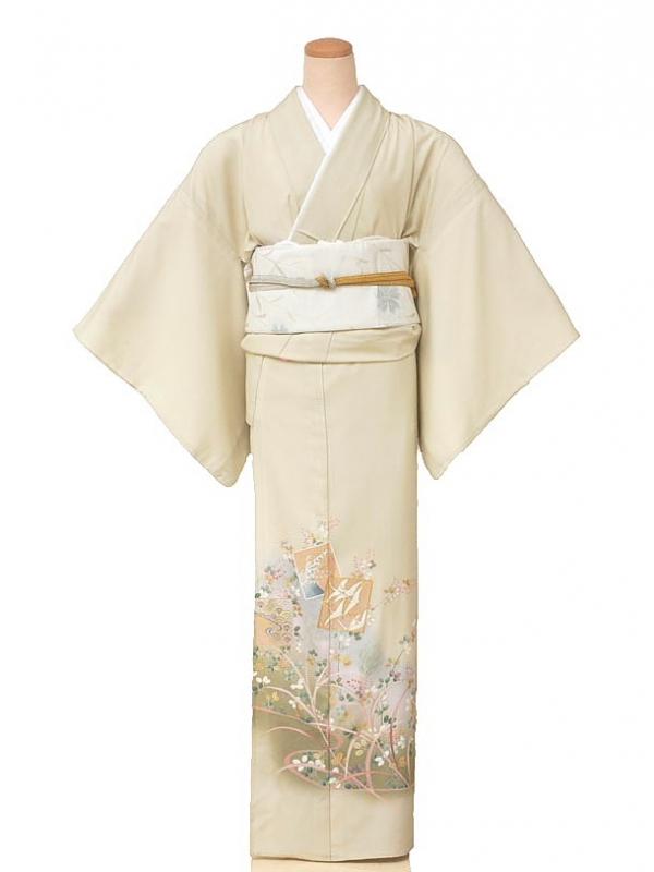 色留袖(夏)5002一つ紋うすグリーン萩