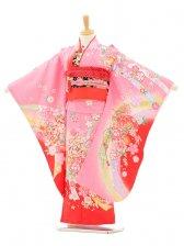 七五三(7歳女結び帯)7152 ピンク花とまり