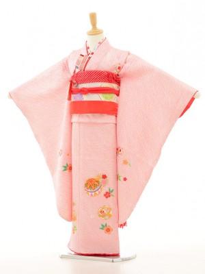 七五三レンタル(7歳女の子袋帯)7151 本絞り ピンク(正絹)