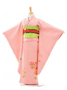 七五三(7歳女袋帯)7188 総絞り ピンク(正絹)