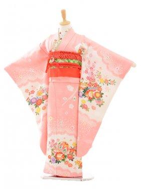 七五三(7歳女袋帯)7184 ピンク 花とまり(正絹