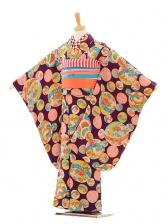 七五三(7歳袋帯)7211アンティーク着物紫鞠