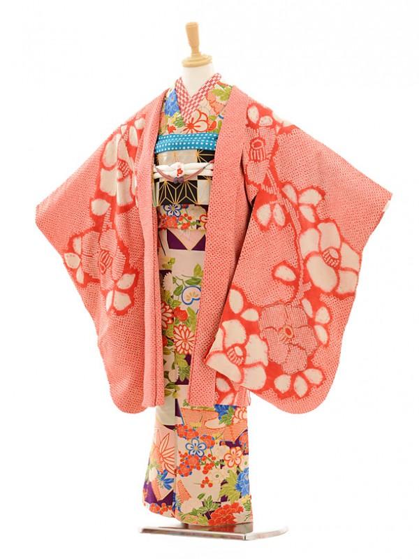 七五三(7歳袋帯・羽織)7230アンティーク着物紫市松