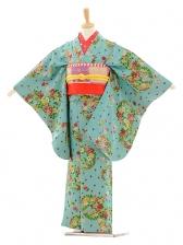 七五三(7歳袋帯)7227アンティーク着物水色花