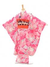七五三(7歳女結び帯)7172 Seiko ピンクバラ