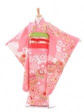 七五三(7歳女袋帯)7186[滝泰]ピンク 宝づくし