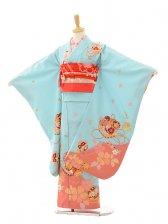 七五三(7歳女結び帯)7234 水色 まり桜