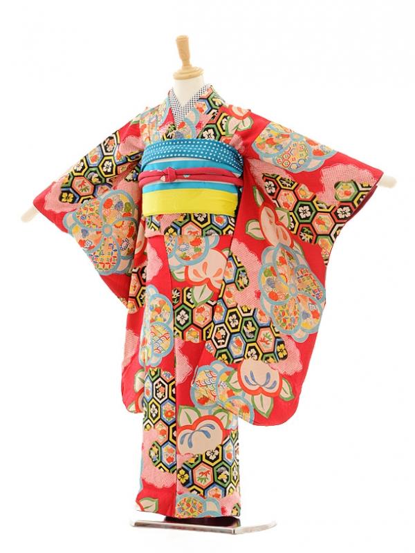 七五三(7歳袋帯)7213アンティーク着物ローズ亀