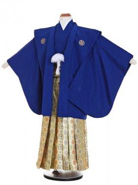753レンタル(5歳男)5016肩衣羽織 紺