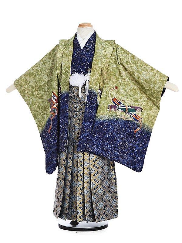 753レンタル(5歳男)5135若草裾紺ローケツ風タカカブト