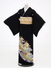 黒留袖レンタル6072鶴に松竹梅
