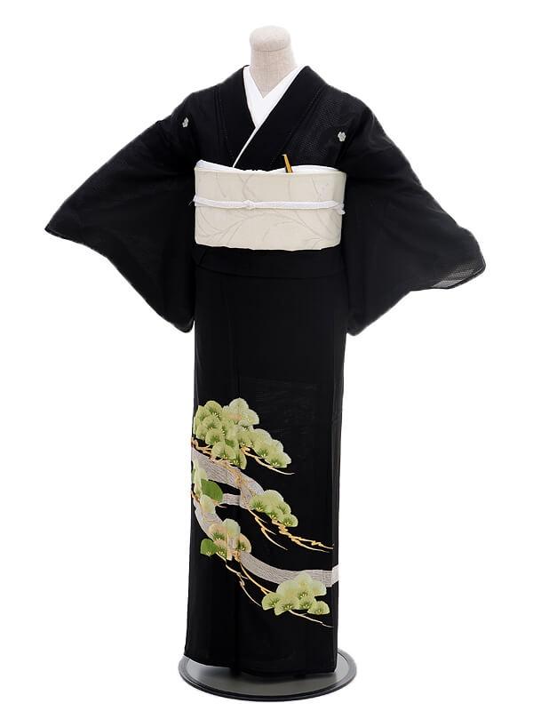 夏留袖6081松刺繍(化繊 絽)