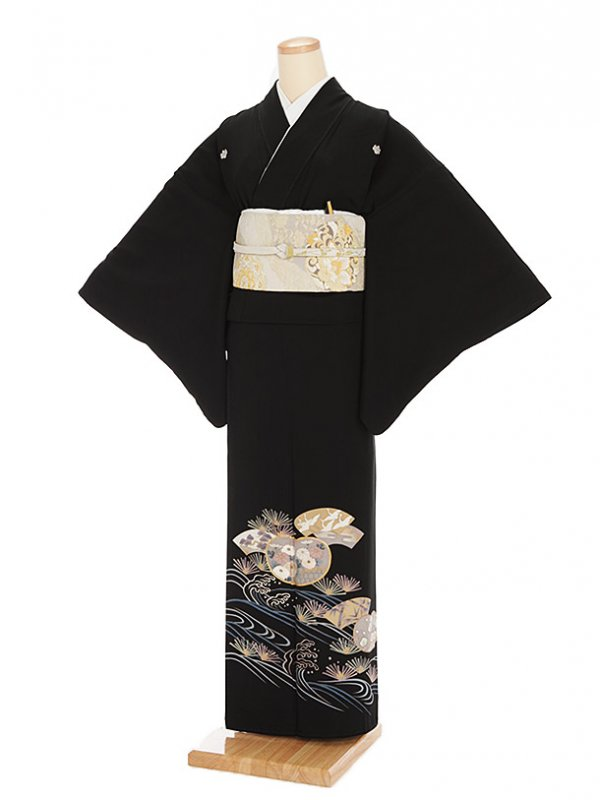 黒留袖レンタル6075扇に祝い柄