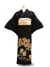 黒留袖レンタル6059金彩松にからしし