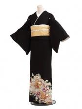 黒留袖レンタルC6015菖蒲に山里