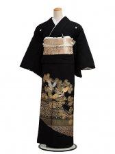 黒留袖レンタルQ6-47金鶴松