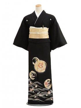 黒留袖レンタル6056豊年に宝づくし