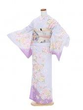訪問着紫刺繍牡丹6153