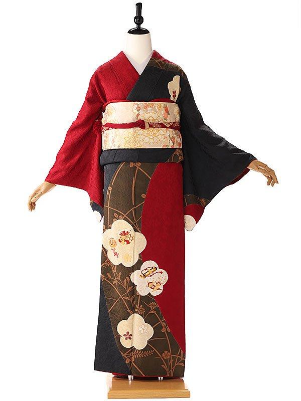 訪問着 赤 桜の小槌 6209