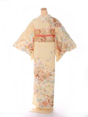 訪問着 japanstyle ベージュ 橘×桜 6206