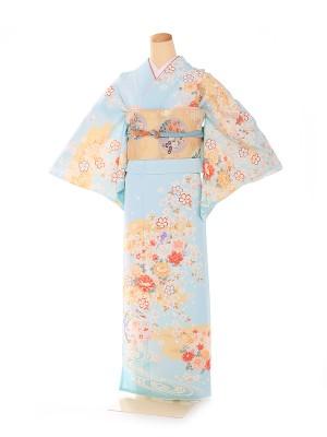 訪問着 華雅桜シリーズ 水色 6217