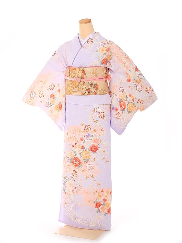 訪問着 華雅桜シリーズ 薄紫 6215