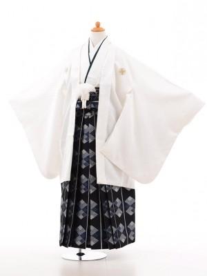 小学生卒業式袴男児D012白×紺袴