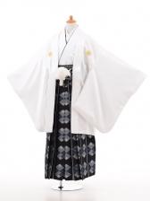 小学生卒業式袴男児D010白×紺袴