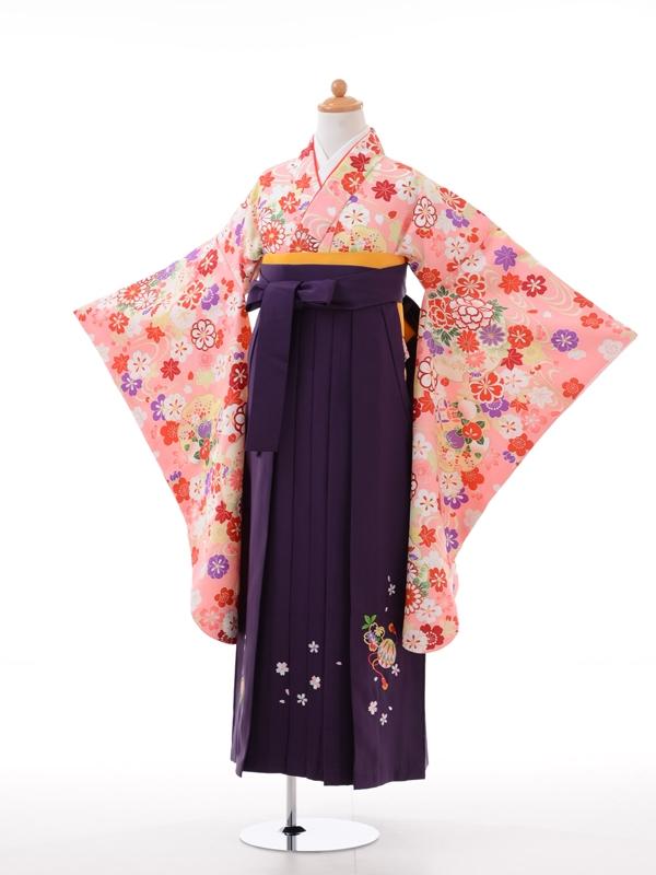 小学生卒業式袴女児9018ピンクポイントむら