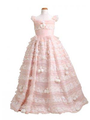 子供ドレス 7~9才 ピンク ノースリーブ er3504