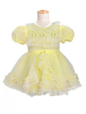 子供ドレス 1~2才 イエロー 半袖 er-3038d